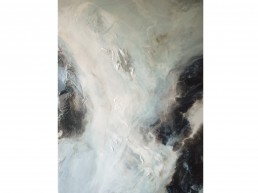 NORAH BORDEN - ARCTIC FLOW, ACRYLIC ON PANEL, 36