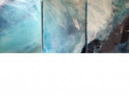 NORAH BORDEN - AZURITE MALACHITE OCEAN, ACRYLIC ON PANEL, 108