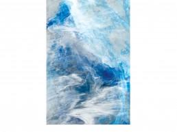 NORAH BORDEN - LAPIS OCEAN, ACRYLIC ON PANEL, 24