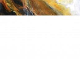 NORAH BORDEN - MINER'S CANARY, ACRYLIC ON PANEL, 60